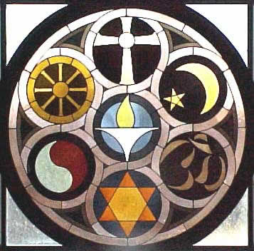 World Religions Stained Glass