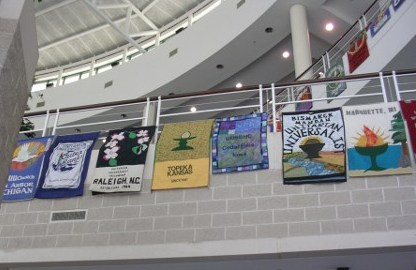 Banners at UUA Convention in 2008