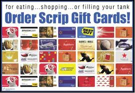 Scrip Order Gift Cards